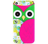 Owl Series Green-eye Ninja IMD Printed TPU Soft Back Cover for iPhone 5/5S