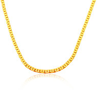 18K Gold Plated Semicircle Women/Men Jewelry Summer New Fashion Never Fade 55 CM Stainless Link Chain Wholesale N50128