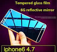 membrana protectora de pantalla de alta calidad explosión vidrio templado 9h película chapado prueba de color para el iphone 6s / 6
