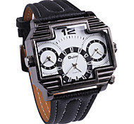 Fire Three Time Zones Cross Clock Dial Personality Men'S Watch