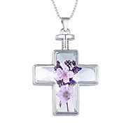 American Jewelry Fashion Necklace Cross Flower Necklace