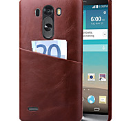 LG G3 PU Leather Back Cover Solid Color case cover