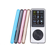 8G Mp3 Mini Lettore Clip USB LCD Screen Rechargeable FM Radio/Voice Recording Player(Assorted Color)