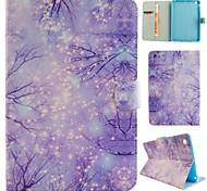 boschi viola illustrazione colorata o modello in pelle PU caso folio tablet custodia per ipad mini 3/2/1