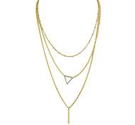 Gold Silver Plated Multialyers Long Chain Necklace