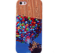 For iPhone 5 Case Card Holder Case Back Cover Case Balloon Hard PU Leather iPhone SE/5s/5