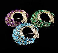 placa de ouro / broche de strass / mulheres elegante broche coroa / casamento / 1pc partido