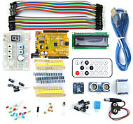 Micro USB UNO R3 BreadBoard Advance Kit with Sensors / LCD Display Module / Tutorial for Arduino