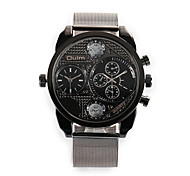 Fire Sports and Leisure Two Time Zone Alloy Ribbon Men'S Watch