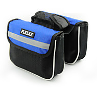 FJQXZ®Bike Frame Bag/Bike For All Phones (Waterproof / Rain-Proof / Multifunctional , Red / Black / Blue , Nylon)