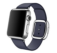 Fashion Replacement Apple Watch Band With Modern Buckle Leather Wristband Strap Size M
