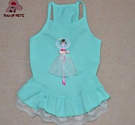 Dog / Cat Dress Green / Blue / Pink Summer Characters Cosplay / Birthday / Valentine / Holiday / Fashion