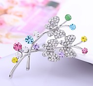 New Arrived Fashion Alloy Silver Butterfly Rhinestone Brooch Crystal Women Brooches men Jewelry