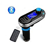 hands-free senza fili bluetooth kit per auto lettore trasmettitore fm mp3 con doppio 2.1a ricarica USB, supporto USB / SD / AUX-in