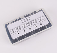Iztoss 87pcs 100mm 3:1 ratio 6 Size Φ2.4-12.7 0.8mm-4.0mm Polyolefin Heat Shrink Tubing sleeve Cable Wrap Kit