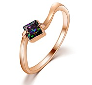 OL Lady Trendy Eight Heart Eight Arrows Zircon Ring 18K Rose Gold Plated Fashion High-grade Decorative Jewelry