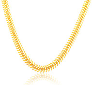 Gold Chain Stamp 18K Gold Plated Jewelry Wholesale New Fish Bone Foxtail Link Chain Necklace Unisex Jewelry N50124