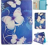 Farfalla sogno illustrazione colorata o modello in pelle PU caso folio tablet custodia per ipad mini 3/2/1