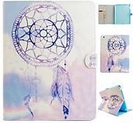 Purple Wind Chimes  Coloured Drawing or Pattern PU Leather Folio Case Tablet Holster for iPad Air 2