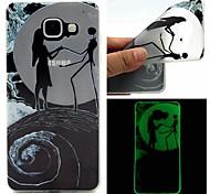 dança coletor ideal caso TPU padrão sofe luminosa para Samsung Galaxy A510 / A710