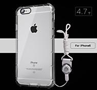 pacote de alça de silicone transparente prova iphone6 ar queda