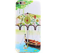 Green Umbrella IMD Printed TPU Soft Back Cover for iPhone 6/6S