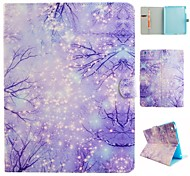 Purple Woods Coloured Drawing or Pattern PU Leather Folio Case Tablet Holster for iPad Air