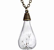 Creative Vintage Bulb Dandelion Pendant Necklace