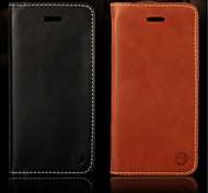 Retro Genuine Leather Flip Cover Wallet Card Slot Case Stand for iPhone 5/5S (Assorted Colors)