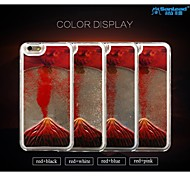 Sanlead Volcano Series PC With Rubber And Liquid Quicksand Back Case For Iphone6,6S(Assorted Colors)