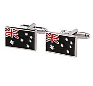 Jewelry Brass Material, Australia Flag Shape Cufflinks