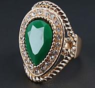 Массивные кольца Цирконий Сплав Мода Богемия Стиль Красный Зеленый Бижутерия Для вечеринок 1шт