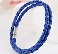 Brightly Well Knited Colorful Leather Chain Bracelets 1pc