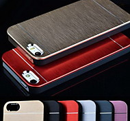 Metal Aluminum Brushed & PC Hard Back Case for iPhone 4/4S