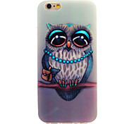 Owl Series Old man IMD Printed TPU Soft Back Cover for iPhone 6/6S