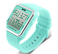 Women's Candy Color Silicone Square LCD Digital Sports Watch Cool Watches Unique Watches