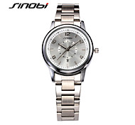SINOBI Women's Fashion Watch Calendar Water Resistant / Water Proof Quartz Alloy Band Silver