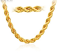 Europe Style Super Thick 18K Gold Plated Men Necklace Jewelry New Fashion Never Fade 77 CM Chain Necklace Gift N50136