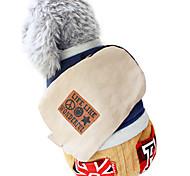 Hunde Overall Rot / Blau / Gelb Hundekleidung Winter Amerikaner / USA / Buchstabe & Nummer Modisch
