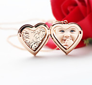 Fashion Watch Box Explosion Phase Lines Heart Necklace