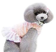 Dog Dress Pink / Coffee Winter Fashion