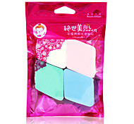Powder Puff/Beauty Blender Natural Sponges 4pcs Quadrate 5x5cm Set Blue / Pink / White