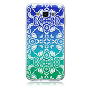 Gradient Flowers Pattern TPU Material Phone Case for Samsung Galaxy E5/E7