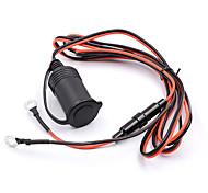 12V 1.8m Wire Waterproof Car Motorcycle Power Socket Plug Outlet