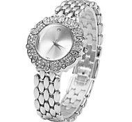Diamond Women Quartz Chain Watch with Rice Grains Stainless Steel Band