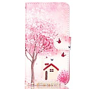 Trees and Houses Painted PU Phone Case for Galaxy S7/S7edge