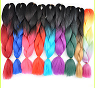 ms africano 1pcs alambre de alta temperatura enorme trenza de pelo niño grande de color de fibras químicas