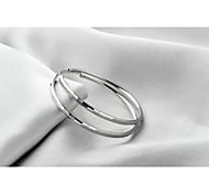 Temperament Exaggerated Female Han Edition 925 Silver Big Ear Ring Nightclub Fashion Allergy Free Silver Ornaments