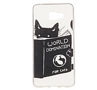 Books And Cats Pattern TPU Soft Case Phone Case for Samsung Galaxy A3/A5/A7/A3 10/A510/A710