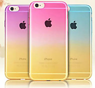 Great Gradient Multicolor Couple Models TPU Phone Case for iPhone 6/6S(Assorted Color)